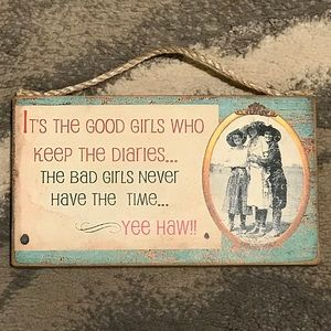 Other - Girl Themed Wooden Sign